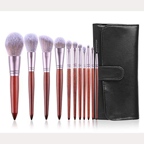 DDameinv 11 séries de pinceaux de Maquillage Ensemble Complet de débutants Pinceau Outil Fard à paupières Poudre Libre Blush Fondation correcteur Pinceau avec Sac à pinceaux