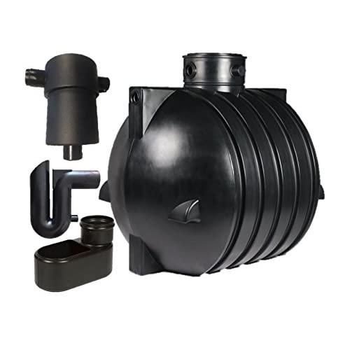 Cisterna per acqua piovana 6000 litri Set raccoglitore per acqua piovana Cisterna Raccoglitore Ozeanis