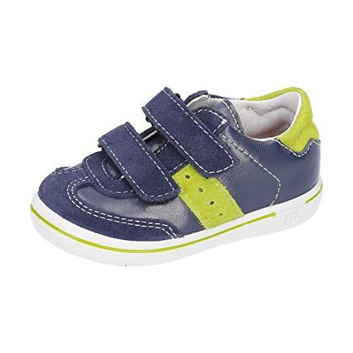 RICOSTA Jungen Kletthalbschuhe Henry von Pepino, Weite: Mittel (WMS), Sneaker freizeitschuh Kinder Kids Jungen Kinderschuhe,Nautic,28 EU / 10 Child UK