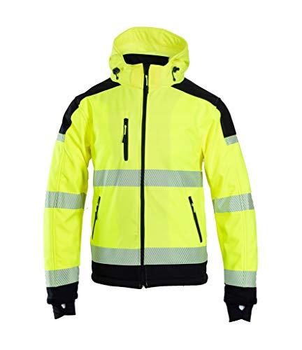 Brixton Flash Softshell Jacke Warnschutz Warnjacke Reflektierend Schutzjacke 300 g/m2 NEUES Modell (2XL)
