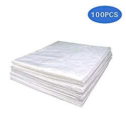 """Wedigout Plastic Sheeting for Body Wrap Used Inside a Far Infrared Sauna Blanket 47""""x82"""" PVC Pack of 100"""