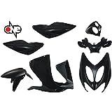 one by Camamoto cod. 77366739 kit kit plástico carenado completo 7 piezas color negro brillante compatible con mbk nitro - yamaha aerox año 1997-1998 - 1999-2000-2001-2002- 2003-2004-2005-2006-2007-2007-2008-2009-2010-2011-2012