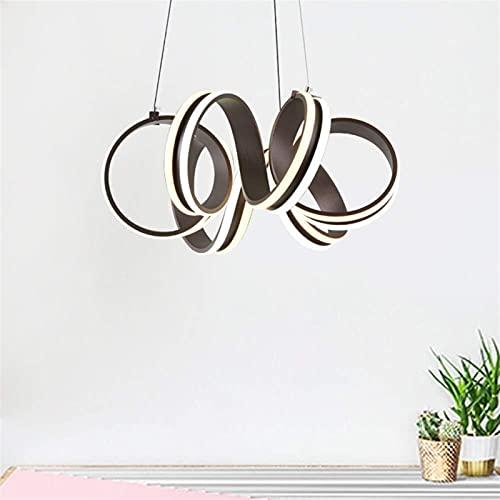 Auoeer Araña Personalidad Creativa Espiral café labrado Hierro de Silicona lámpara de Silicona tamaño 50 cm * 50 cm lámpara de araña iluminación iluminación cafetería Bar Restaurante Dormitorio estu