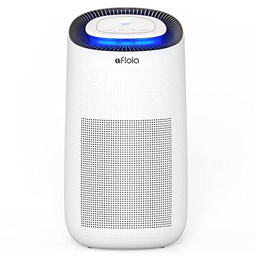 Air Purifier for Home, Quiet H13 HEPA Filter Air Cleaner with Timer and Air Quality Senor for Bedroom with 3 Speeds, Removes 99.97% of Pollen, Allergy Particles, Dust, Smoke, Night Light Function