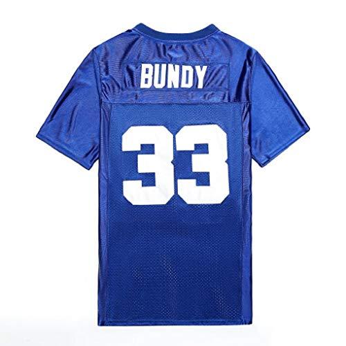 Al Bundy Football Jersey, Men's 33 Bundy Polk High Varsity Blues Jersey #33 Bundy Movie Vintage West Canaan Coyotes Football Jersey for Women