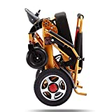 MJY Folding Electric Wheelchair, Lightweight Wheelchair All Terrain Power Scooter Dual Motor Power Chair 12A...