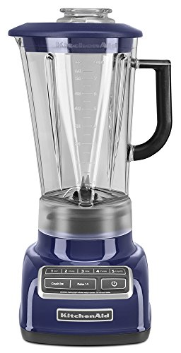 KitchenAid KSB1575BU 5-Speed Diamond Blender with 60-Ounce BPA-Free Pitcher - Cobalt Blue