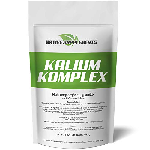 Native Supplements -  Kalium Komplex - XXL