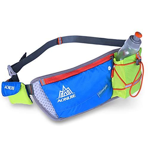 Cinturón De Ejecución Reflectante con Soporte De Botella De Agua Cinturón De Cintura para Mujer para Hombres Paquete De Cintura para Correr para Correr Ciclismo para Correr