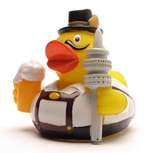 Duckshop I Badeente I Quietscheente I City Duck München I L: 7,5 cm I inkl. Badeenten-Schlüsselanhänger im Set