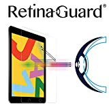 RetinaGuard 2019 iPad 10.2インチ アンチブルーライト強化ガラススクリーンプロテクター (透明)、SGSとIntertekテスト済み、過度の有害なブルーライトをブロック、目の疲れや目の疲れを軽減。