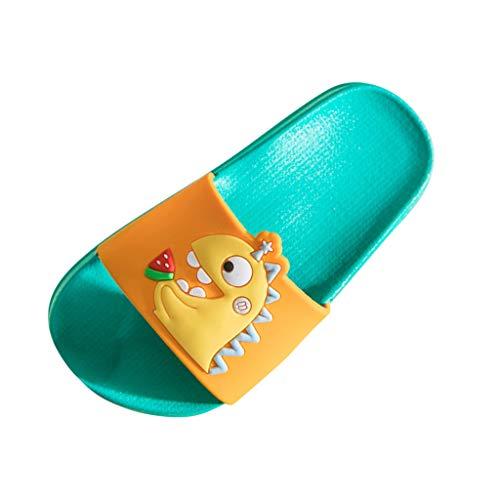 Viviplus Boys Girls Home Slides Slippers Sandals Little Big Kids Summer Indoor Bathroom Shoes Cute Cartoon Animals Beach Flat Slippers for 3-10 Yrs