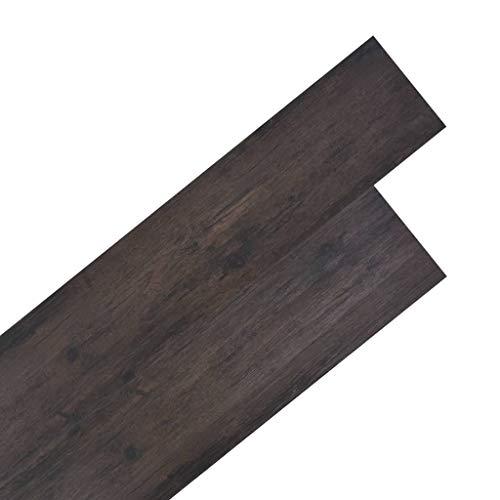 vidaXL PVC Laminat Dielen 5,26m² 2mm Eiche Dunkelgrau Vinylboden Fußbodenbelag