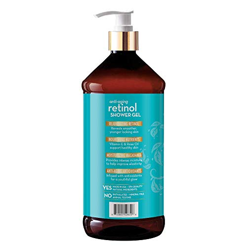 41c6RNBqkrL. SL500  - Arganatural Bundle Pack with Tightening Body Lotion and Anti-Aging Retinol Shower Gel (32 Ounces/960 Milliliters)