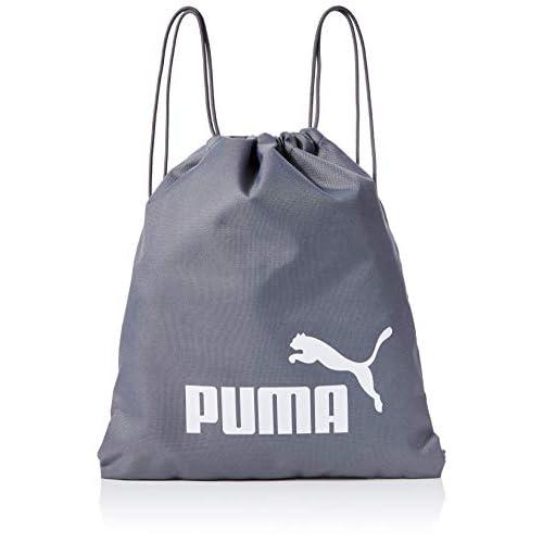 PUMA Phase Gym Sack, Sacca Sportiva Unisex Adulto, Grigio (Quiet Shade White), Taglia unica