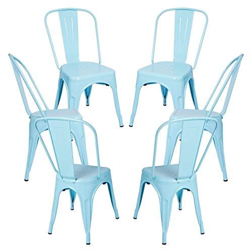 Regalos Miguel - Packs Sillas Comedor - Pack 6 Sillas Torix - Azul Cielo - Envío Desde España