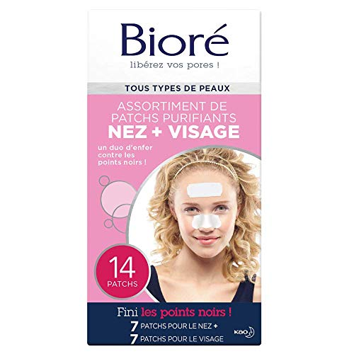BIORÉ Assortiment de 14 Patchs Purifiants Nez + Visage
