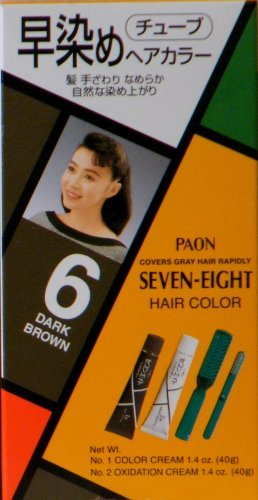 Paon Seven-Eight Permanent Hair Color Kit 6 Dark Brown