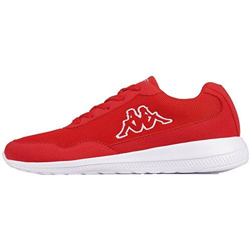 Kappa Unisex-Erwachsene Follow Sneaker, Rot (2010 Red/White), 40 EU
