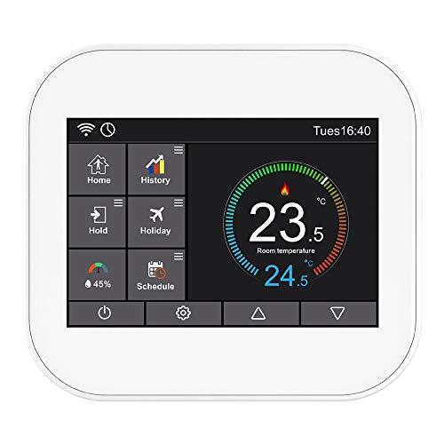 SODIAL Termostato de Prensa Wifi para CalefaccióN de Agua/VáLvula de Radiador por Control por TeléFono Inteligente MC6-HW B