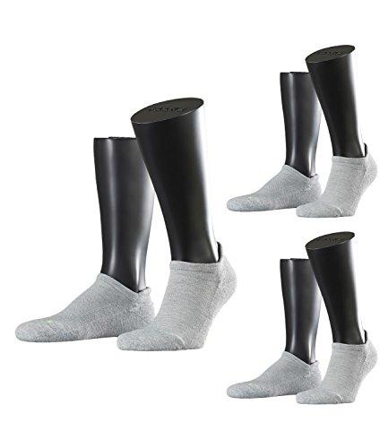 FALKE Unisex Sneaker Laufsocken Sportsocken Cool Kick 16609 3 Paar, Farbe:Grau, Sockengröße:37-38, Artikel:-3400 light grey