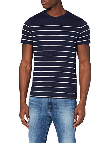 Superdry Bretton SS Nautical tee Camisa, Azul (Atlant Navy Gkv), L para Hombre