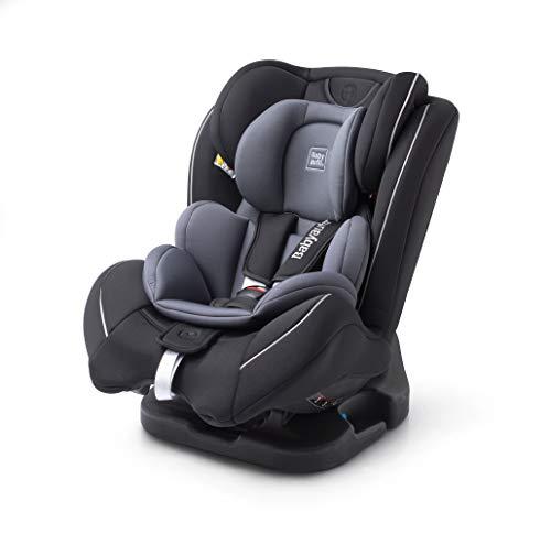 Siège auto évolutif 0+/1/2/3 (0-36kg) avec protection latérale, inclinable et têtière réglable (noir)