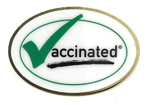 EQ Brands Covid-19 GreenCheck Vaccination Pin