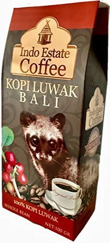 (豆のまま/100g) 高級コーヒー豆 コピルアック KOPI LUWAK BALI コピ・ルアク バリ [Indo Estate Coffe]