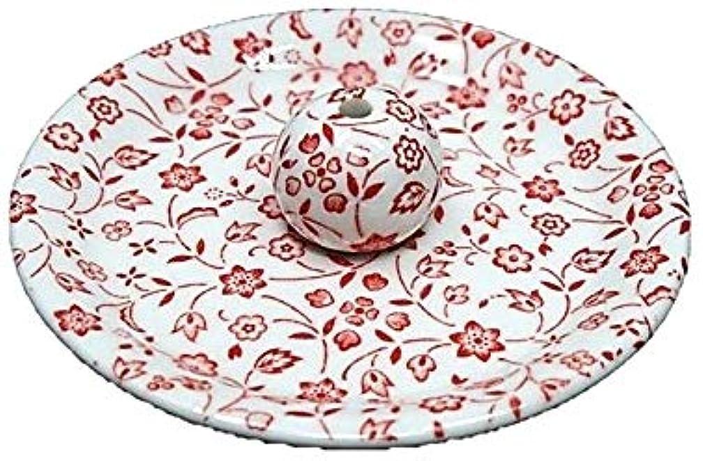 線形ファイナンス地下室9-20 赤小花 9cm香皿 お香立て お香たて 陶器 日本製 製造?直売品