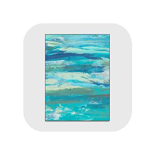 Big Incisors Wohnzimmer Teppich |Teppiche für Wohnzimmer Weihnachtsteppich Abstraktes Meerwasser Strand Ölgemälde Blaues Muster Teppich Nordische Dekoration Startseite Baby-JQ-Teppiche-311-40X120cm