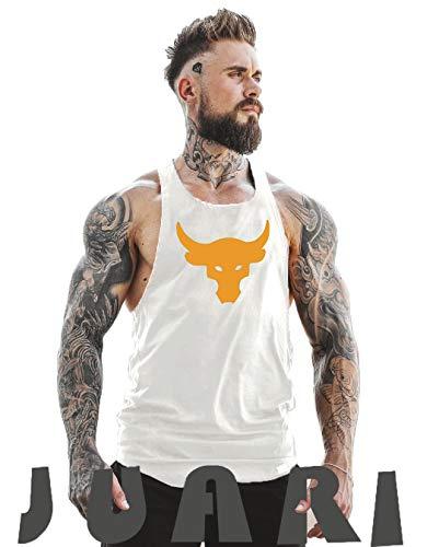 JUARI BE A Gentleman Cotton Stringer Gym Vest for Men (Black, X-Large)