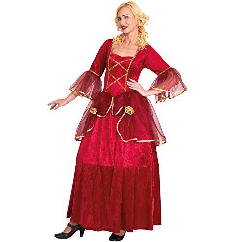 Mortino Disfraz De Mujer Baronesa Roja Barroca Venezia Carnaval Nobleza S, M, L, XL (S)