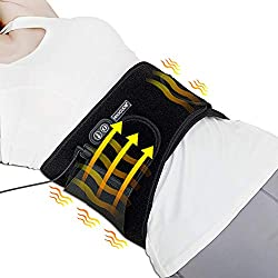 Heating Pad Back Pain Heating Wraps with Far Infrared Heat Therapy, Heat Belly Wrap Belt with Vibration Massage,Heated Waist Belt for Lumbarof Belly Lower Back Pain Relief?No Battery?