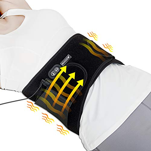 Heating Pad Back Pain Heating Wraps with Far Infrared Heat Therapy, Heat Belly Wrap Belt with Vibration Massage,Heated Waist Belt for Lumbarof Belly Lower Back Pain Relief(No Battery)