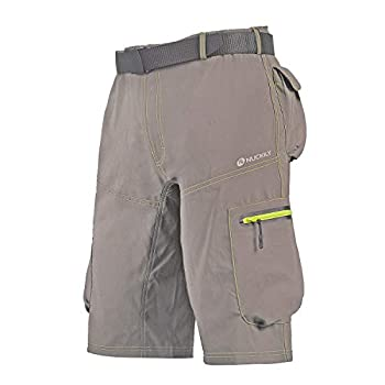 NUCKILY Men s Mountain Bike Biking Shorts Bicycle MTB Shorts Loose Fit Cycling Baggy Lightweight Pants with Zip Pockets