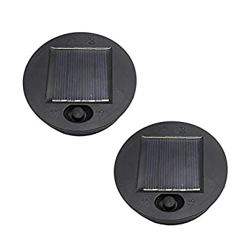 LKEREJOL Professional 2 Pack Solar Lantern Led Light Replacement Top for Outdoor Lanterns Hanging Solar Lights Outdoor Replacement Light Fixture Parts Solar Light Replacement Parts