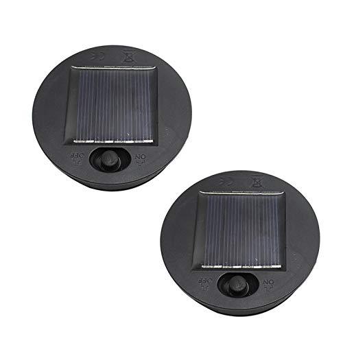 DASNTERED Solarleuchte -Oberteil für hängende Laternen im Freien, Solarlampe, LED-teil, Batteriebox, einfache Installation