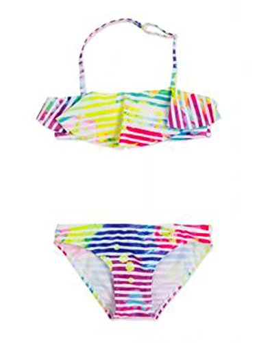 Losan Traje DE BAÑO Bikini con Rayas Multicolor 4001F Fuxia Tamaño: 8A 128cm