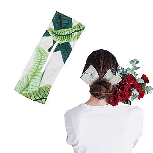 Diademas de algodón, colores a la moda, horquilla, banda de pelo para mujer, herramienta de trenzado de pelo para mujeres, niñas, ejercicio, correr, deportes, accesorios para envolver el pelo (verde)