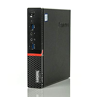Lenovo ThinkCentre M900 Tiny Desktop Micro Tower PC (Intel Core i5-6500T, 8 GB Ram, 256 GB SSD, USB 3.0, WiFi) Windows 10 Pro (Renewed)