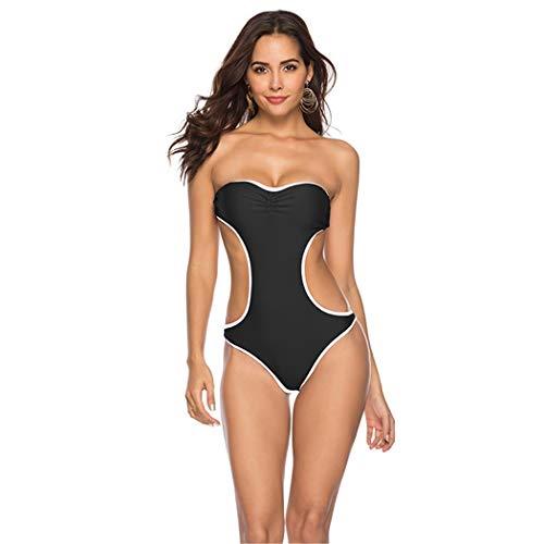 Badpak zonder bandjes uit de schouder bikini rugvrij hoge druk middelste taille monokini zomer