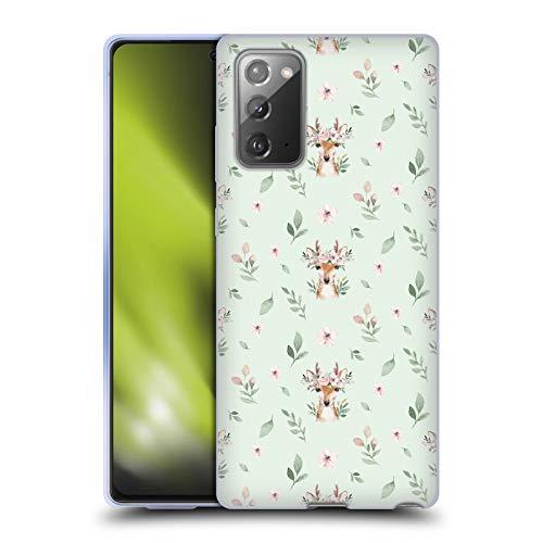 Head Case Designs Officially Licensed Kristina Kvilis Patrón de Ciervo Animales Lindos Carcasa de Gel de Silicona Compatible con Samsung Galaxy Note20 / 5G