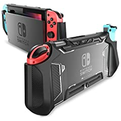 Dockable Case: Designed for Nintendo Switch and fit in the dock perfectly without taking off the case Full Protection: Made with shock-absorbent flexible TPU and anti-scratch PC material, protects your device from everyday bumps, drops, falls, scratc...