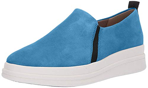 Naturalizer Womens YOLA Leather Low Top Pull On Fashion, Blue, Size 11.0
