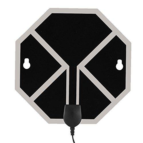 Denash Octagon Flache HDTV-Antenne 60 Meilen große Reichweite Digital Indoor 1080P 4K TV Antenne US-EU-Stecker(Europa-Stecker)