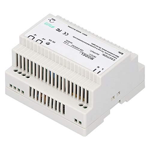 110-240V DR-100 DIN Serie Fuente de Alimentación LED Regulada Ajustable, Fuente de Alimenatción de Conmutación de Riel para Gabinete de Control Eléctrico, Aislamiento de 2 Nivel(DR-100-24)