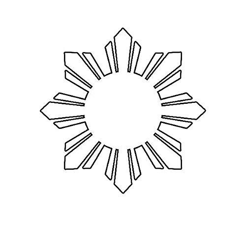 ION Graphics Magnet Philippines Sun Magnetic Vinyl Die Cut Decal Filipino Stars Flag 5' Car Magnet Bumper Sticker