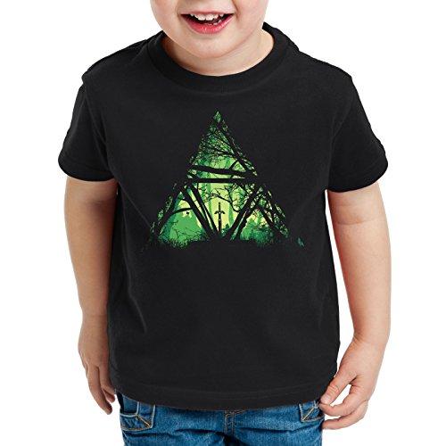 style3 Nature Triforce T-Shirt für Kinder link Hyrule Gamer, Größe:152