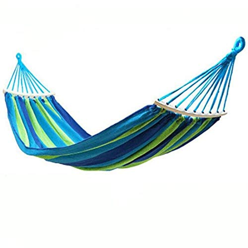 ZYR Rainbow Outdoor Leisure Portable Hammock Canvas Hammocks Ultralight Camping Hammock Lazy Chair Travel Camping,Blue